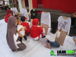 Jasa Activity Mewarnai kaos Jakarta