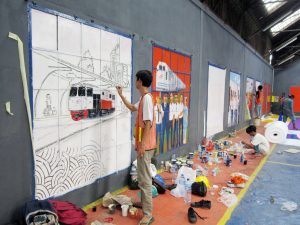 Jasa lukis Mural Jakarta Depok Tanggerang BSD Murah